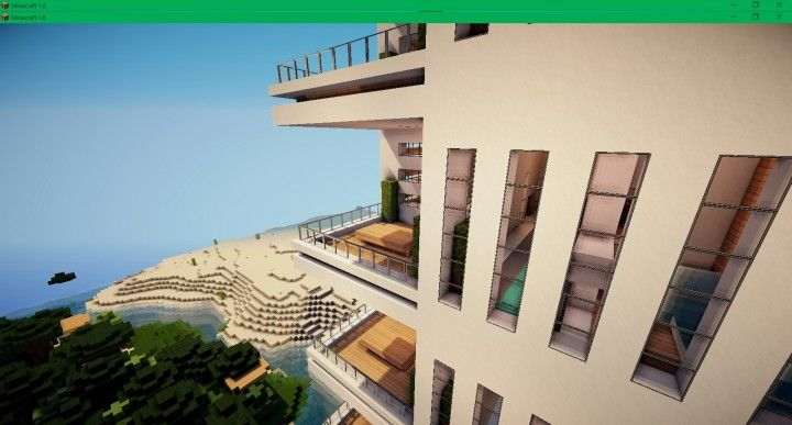 Modern Apartment 2 Minecraft Building Ideas Skyscraper Tower Live Beach  Front 5