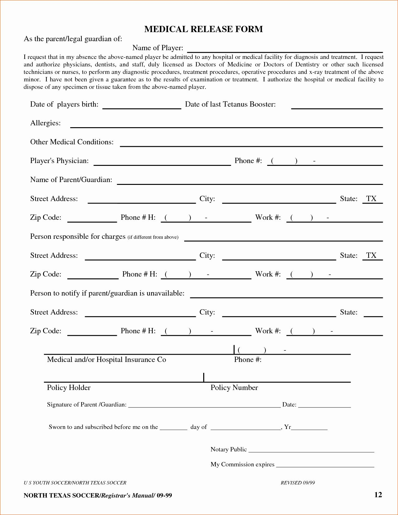 Medical Form Templates Microsoft Word In 2020 With Images