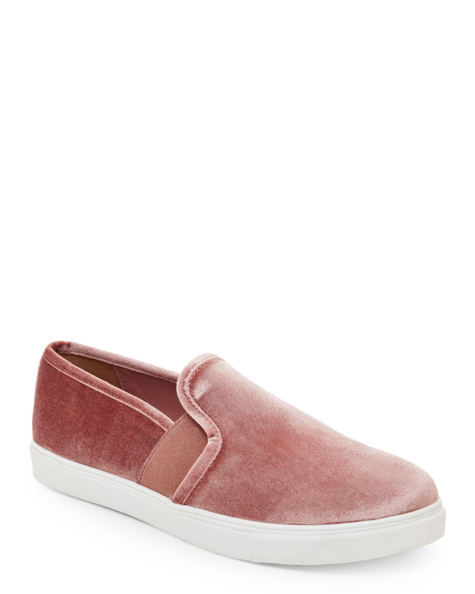 404f57792f9 Steve Madden Blush Evangel Velvet Slip On Sneakers   *Apparel ...
