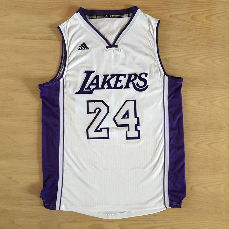 38a8982ee Los Angeles Lakers Kobe Bryant White and Purple Jersey