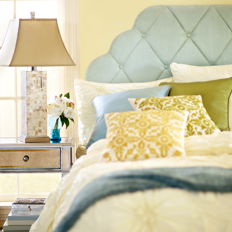 King Mother Of Pearl Headboard By The Yard: Mother-of-Pearl Table Lamp In 2019