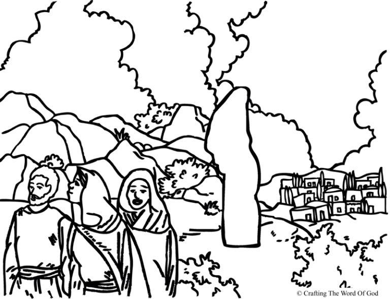 La Esposa De Lot Pagina De Colorear Escuela Dominical Para Niños Artesanía Biblica Historias Biblicas Para Ninos