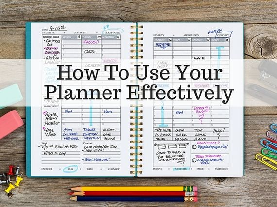 How to Use Your Planner Effectively