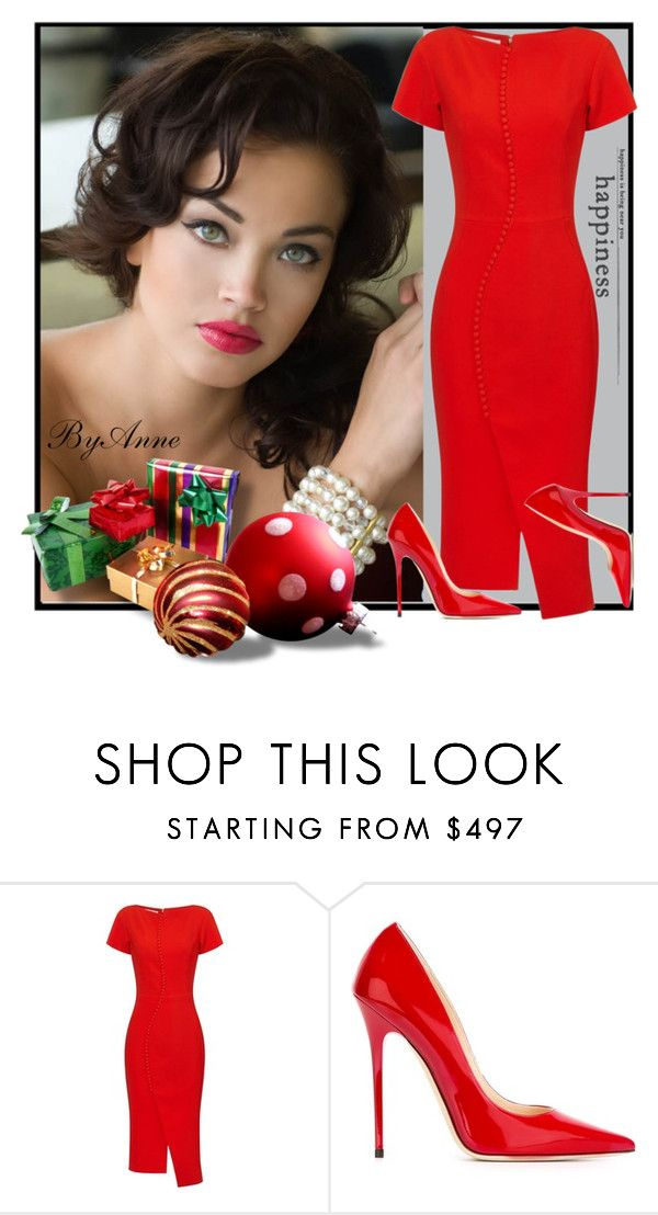 """""""Next week is Christmas ❤️"""" by anne-977 ❤ liked on Polyvore featuring Antonio Berardi, Jimmy Choo, reddress, holidays and xmas"""