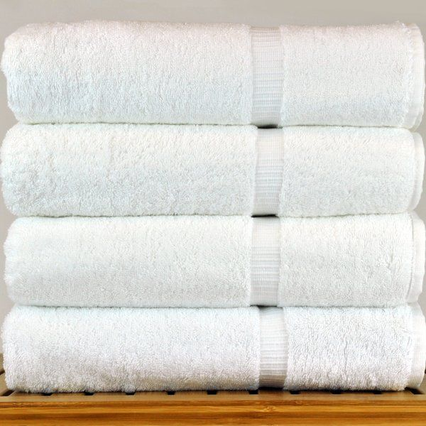 4 Piece 100 Cotton Bath Towel Set Bath Towels Bath Towel Sets