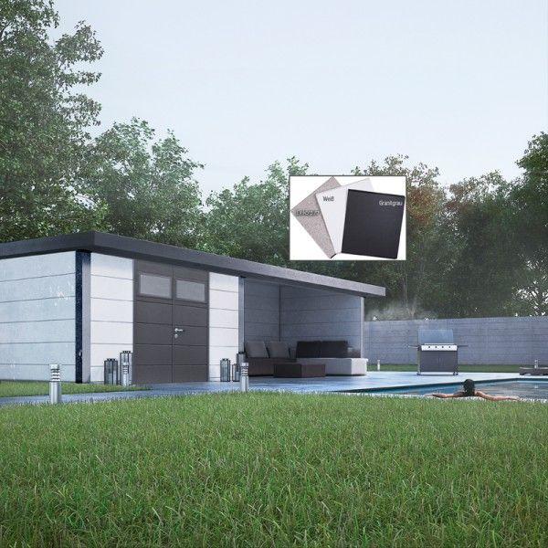 Eleganto 3024 Dekorputz mit Lounge rechts Gartenhaus