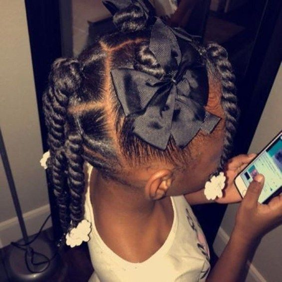 Cozy Natural Black Hairstyle Ideas For Curly Little Girls 35 #girlhairstyles