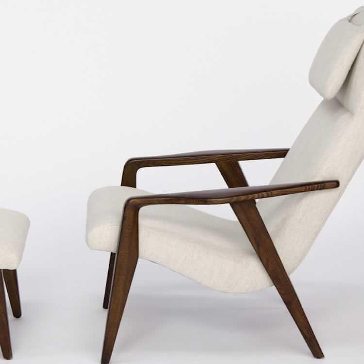 Contour midcentury chair mid century ottoman mid
