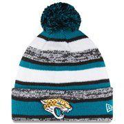 2884f6bd20d Mens Jacksonville Jaguars New Era Teal On-Field Sport Sideline Cuffed Knit  Hat