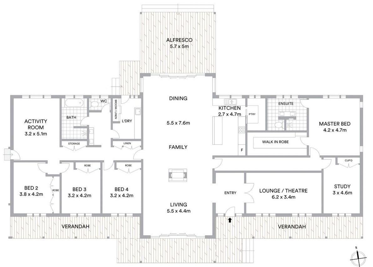 Floor Plan Friday 5 Bedrooms Open Plan Living Barndominiumideasfloorplans Floor Plan Friday 5 House Layout Plans Open House Plans Barndominium Floor Plans