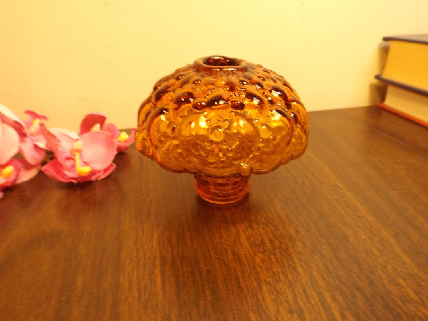 Antique hobnail glass amber lamp part ornate lamp shade holder antique hobnail glass amber lamp part ornate lamp shade holder mp decorationoil aloadofball Images