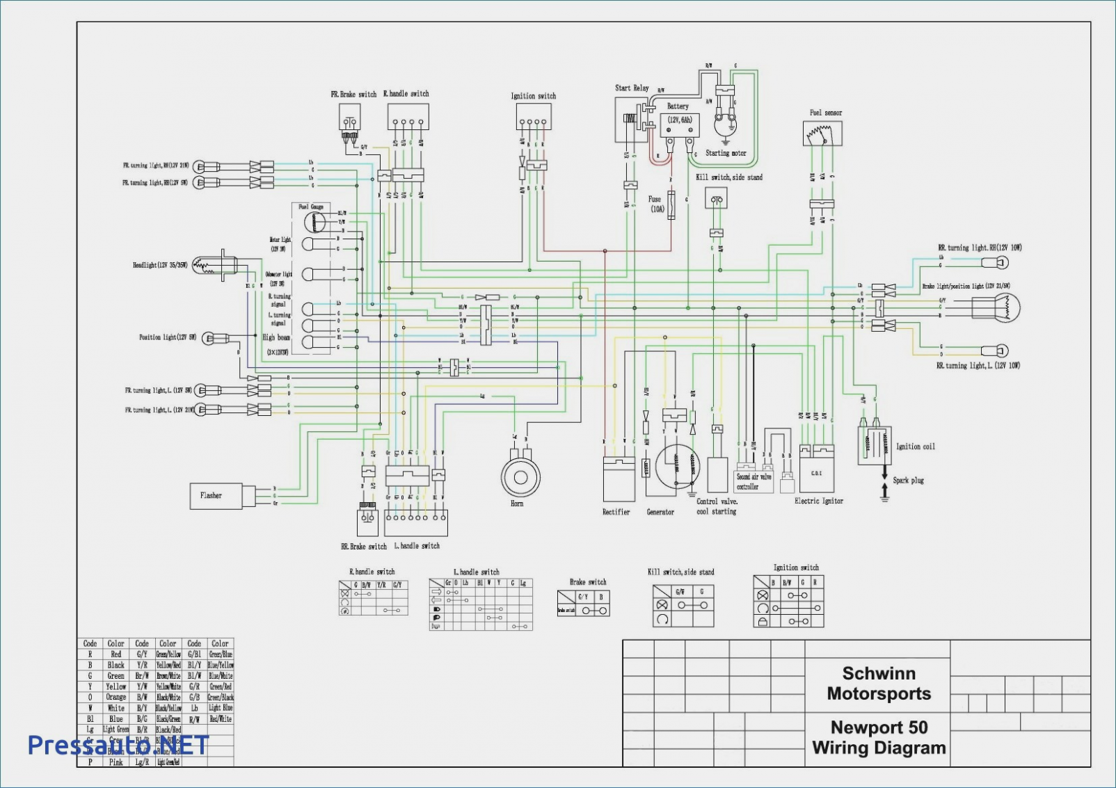 12 Good Sample Of Pride Legend Scooter Wiring Diagram