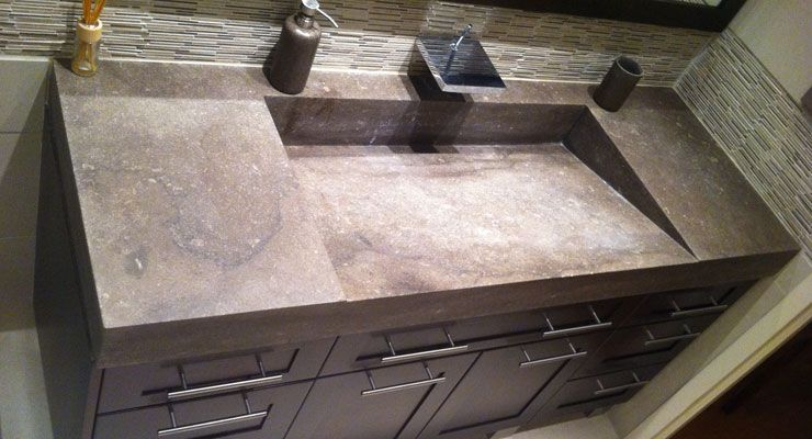 St Marc Stone Sink Private Residence Projet Granit