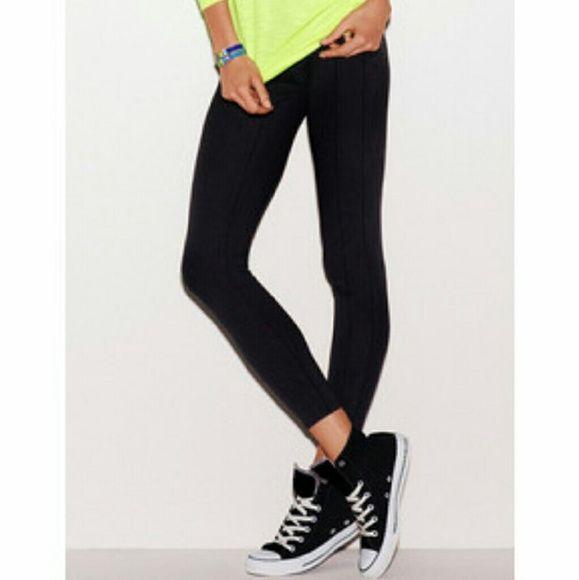 PINK essential black leggings - smoke free home  - no trades  - no paypal PINK Victoria's Secret Pants Leggings