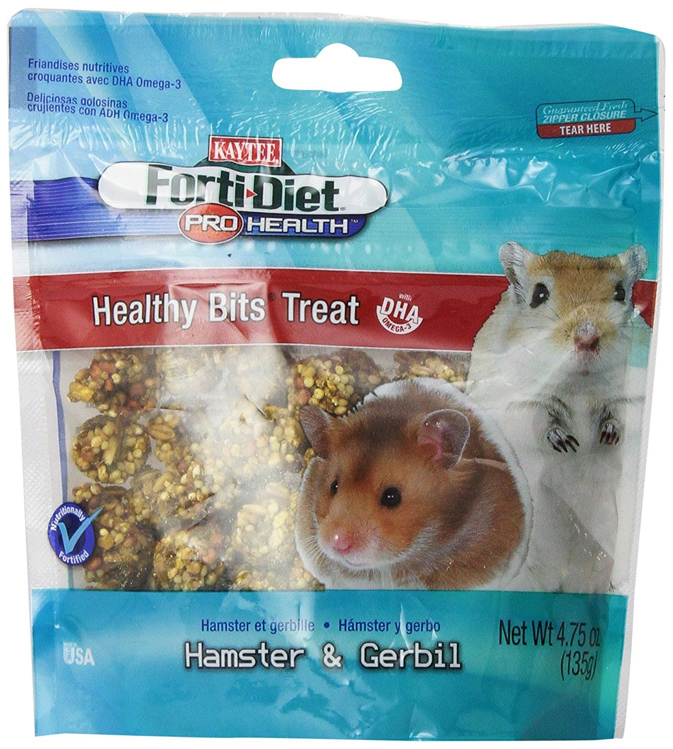 Kaytee Forti Diet Pro Health Healthy Bit Hamster Treat 4 75 Ounce Find Out More Details By Clicking The Image This Is An Amazon A Hamster Your Pet Gerbil