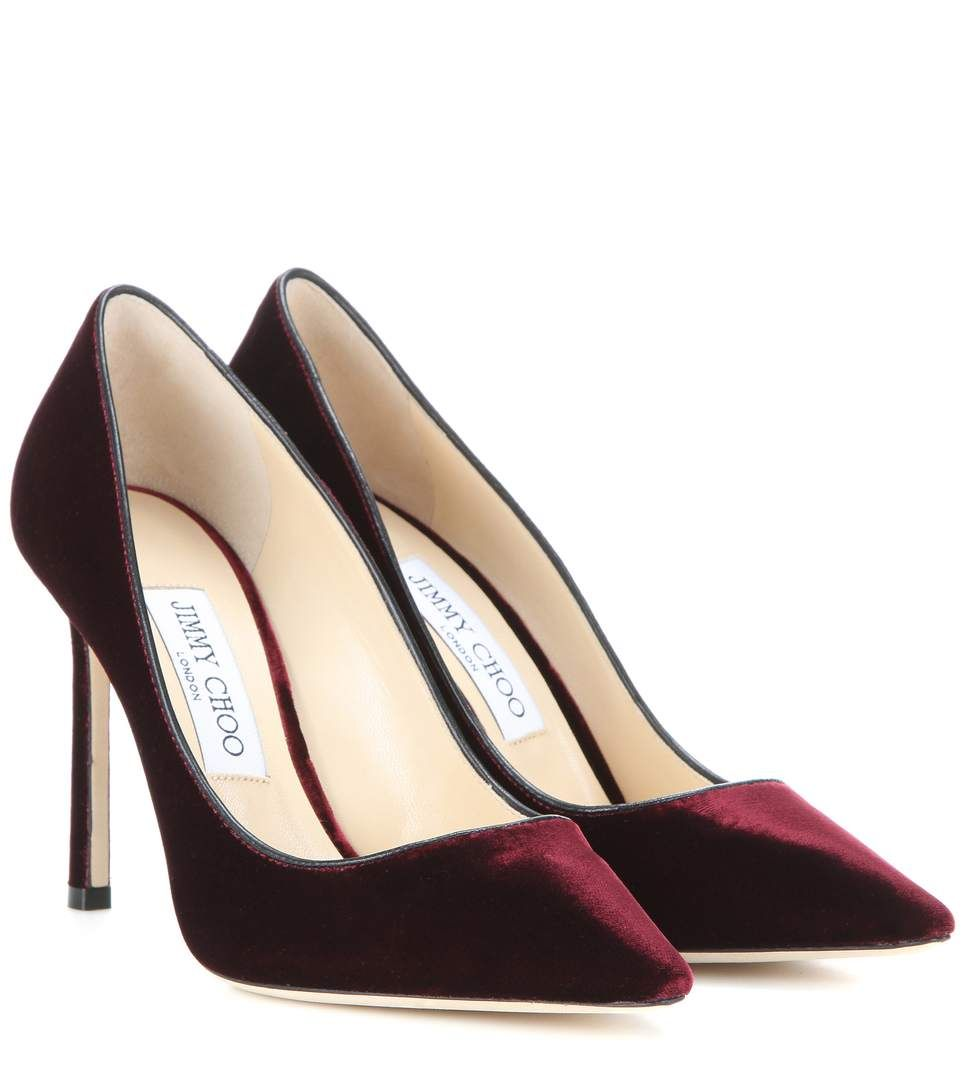 68ca16fe1d3e JIMMY CHOO Romy 100 Velvet Pumps.  jimmychoo  shoes  current week