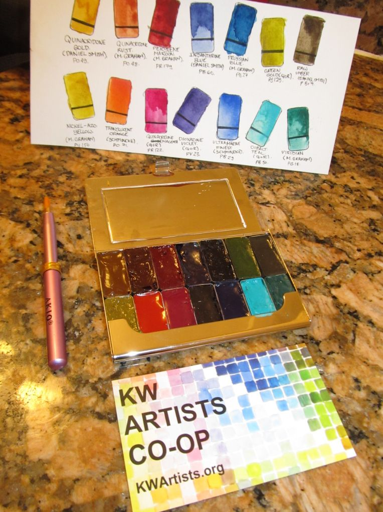 DIY Christmas Tiny Palettes Lee Angold Watercolor kit
