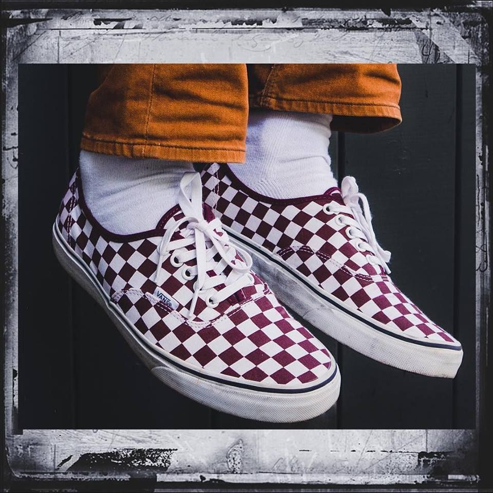 Vans Authentic Checkerboard Trainer à Petits Prix Port
