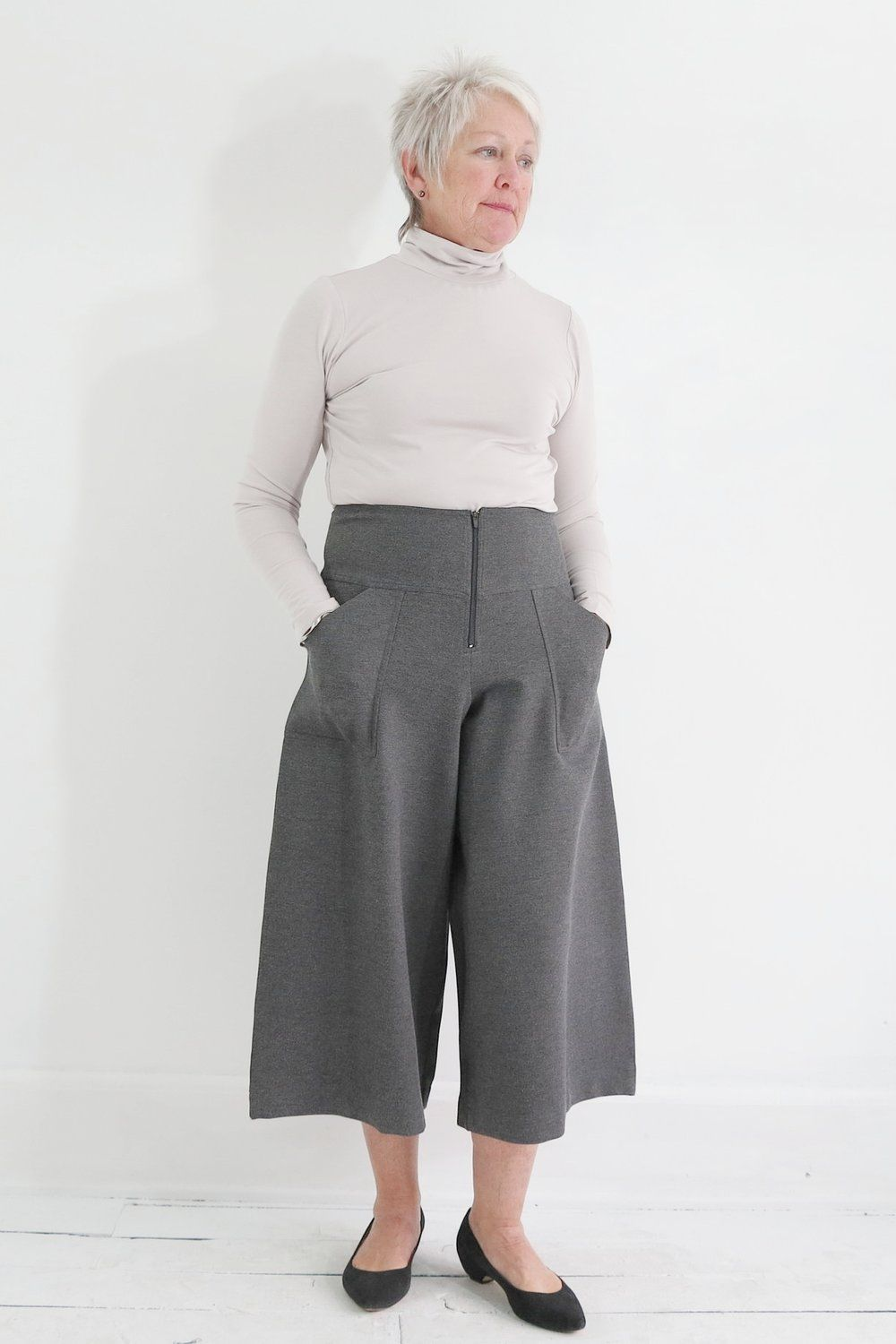 Bitte Kai Rand incredibly comfortable wide legs cropped pants at Atelier957.