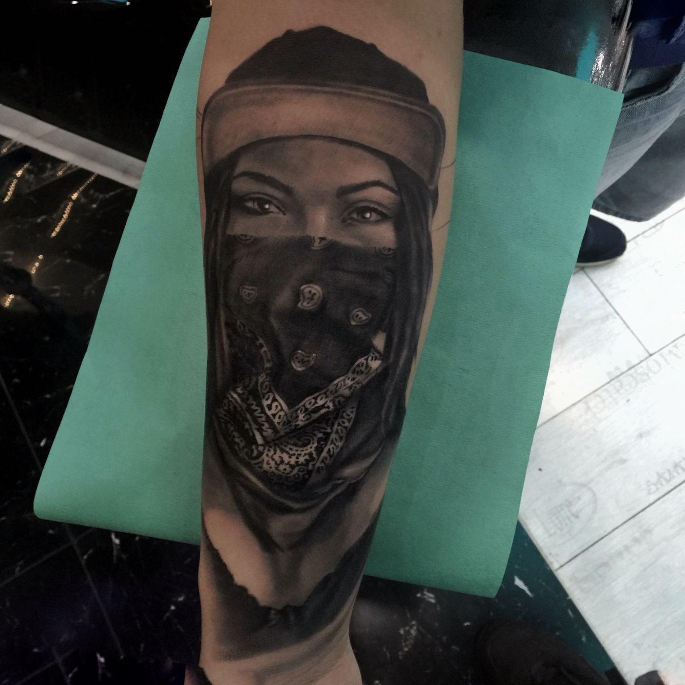 Gangster Girl Bandana Tattoos