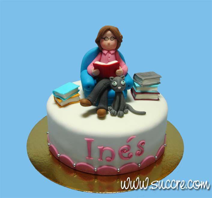 Cake Decorating Books In Spanish : Girl reading cake - Books cake - Reader Cake - Tarta chica ...