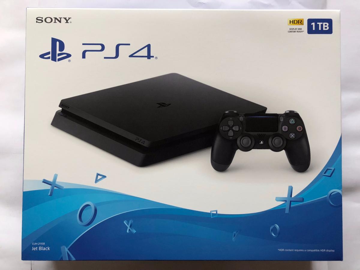 Sony Playstation 4 Slim 1tb Jet Black Console Ps4 Game Console Sony Playstation Playstation