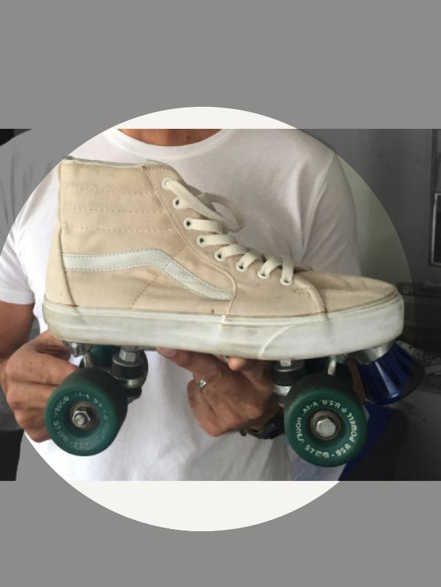 a7f9c757c423b vans sk8-hi diy roller skate | Vans in 2019 | Roller skating, Vans ...