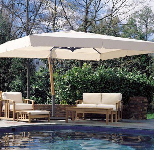 10 X 13 Aluminum Cantilever Umbrella With Images Large Patio