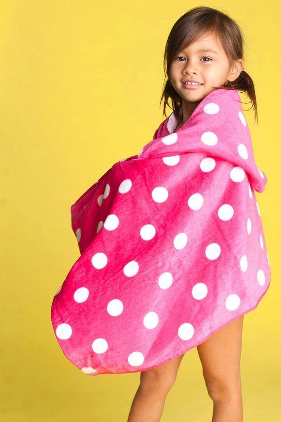 Pink Dandy Dot Hooded Kid S Hooded Towel Personalized Hooded Bath