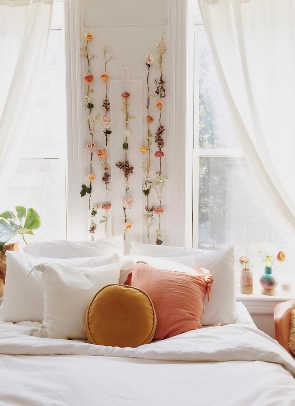 Bed against the window  sunlit bedrooms bedroomdecoration  best bedroom decor in