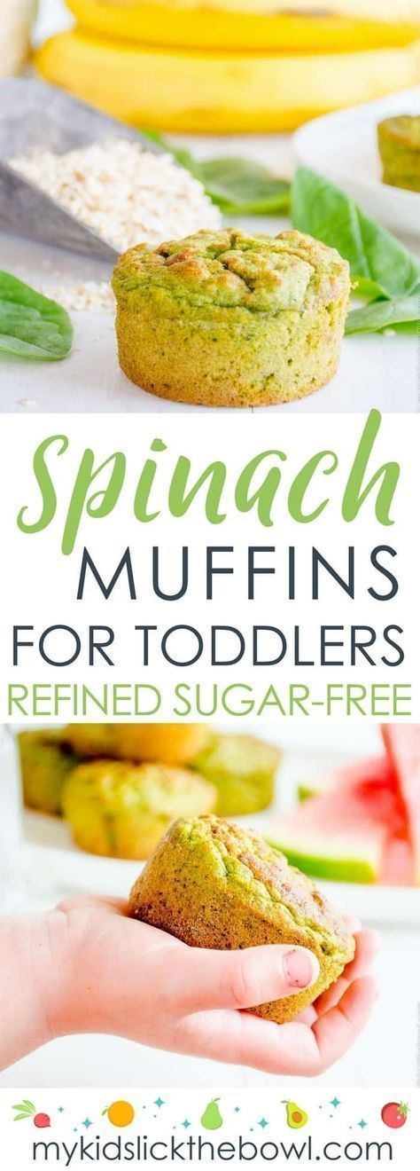 Spinach Muffins For Toddlers - Fruit & Veggie Muffins