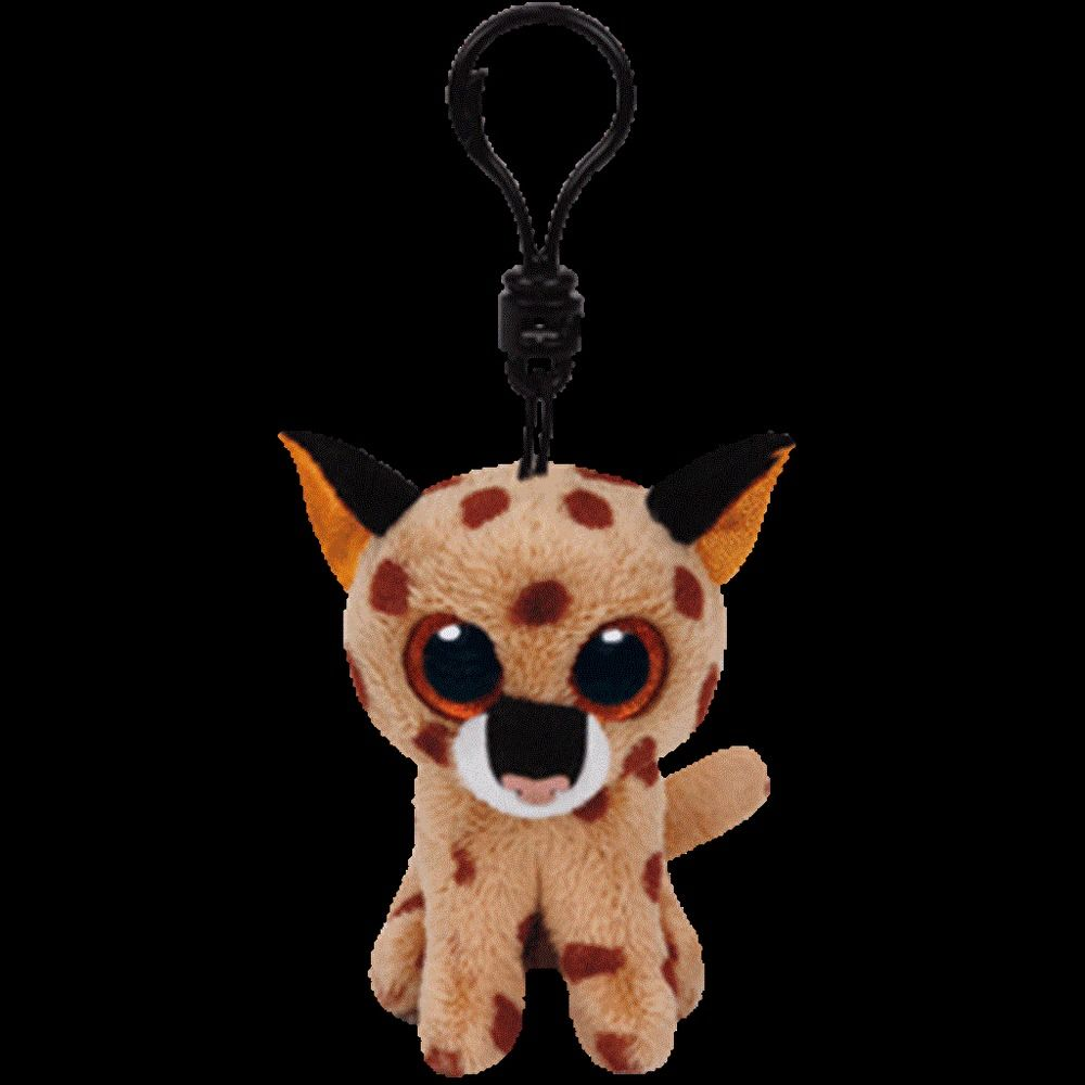 94fb06b7956 Ty Beanie Boo s Clip - BUCKWHEAT the Brown Lynx Key or Backpack Clips NWMT  New