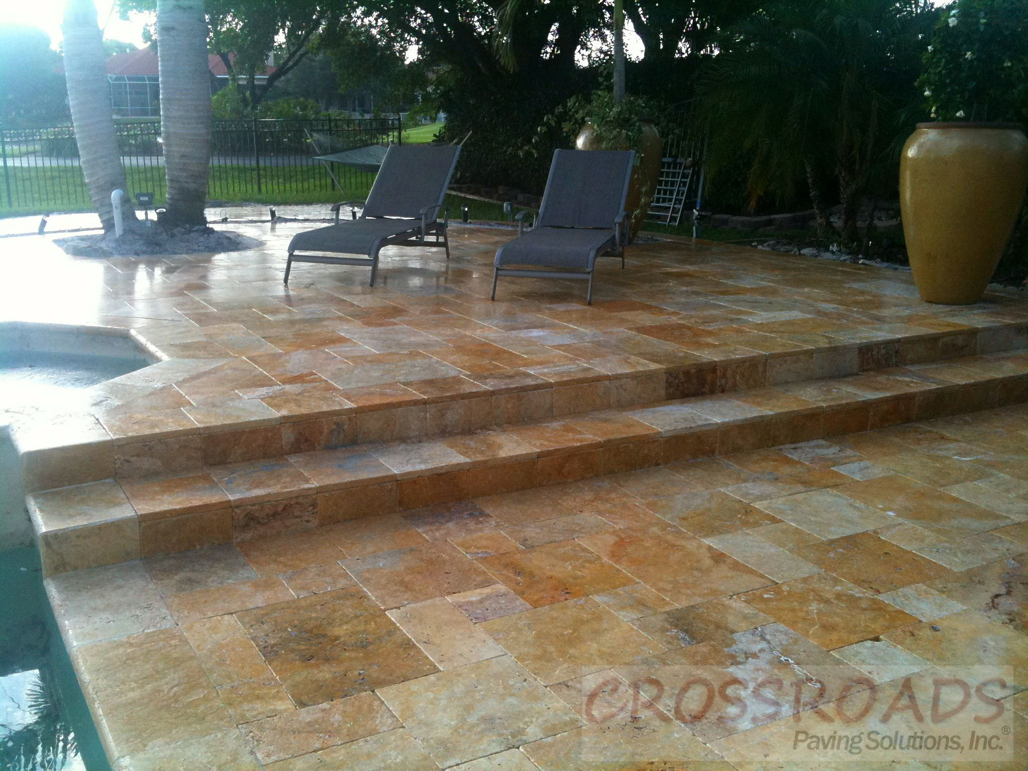 Marble Pool Decks Gorgeous Tumbled Marble Pool Deck  Paver Pool Decks  Pinterest