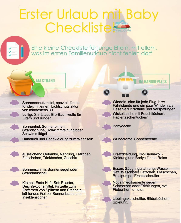 Erster Urlaub mit Baby - Checkliste