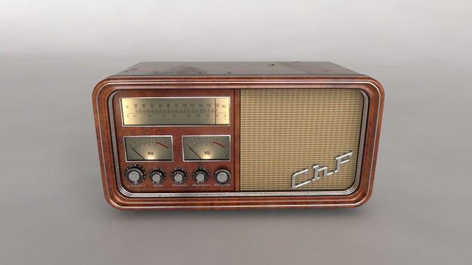 Old Time Radio 3d Model Old Time Radio Old Radios Antique Radio