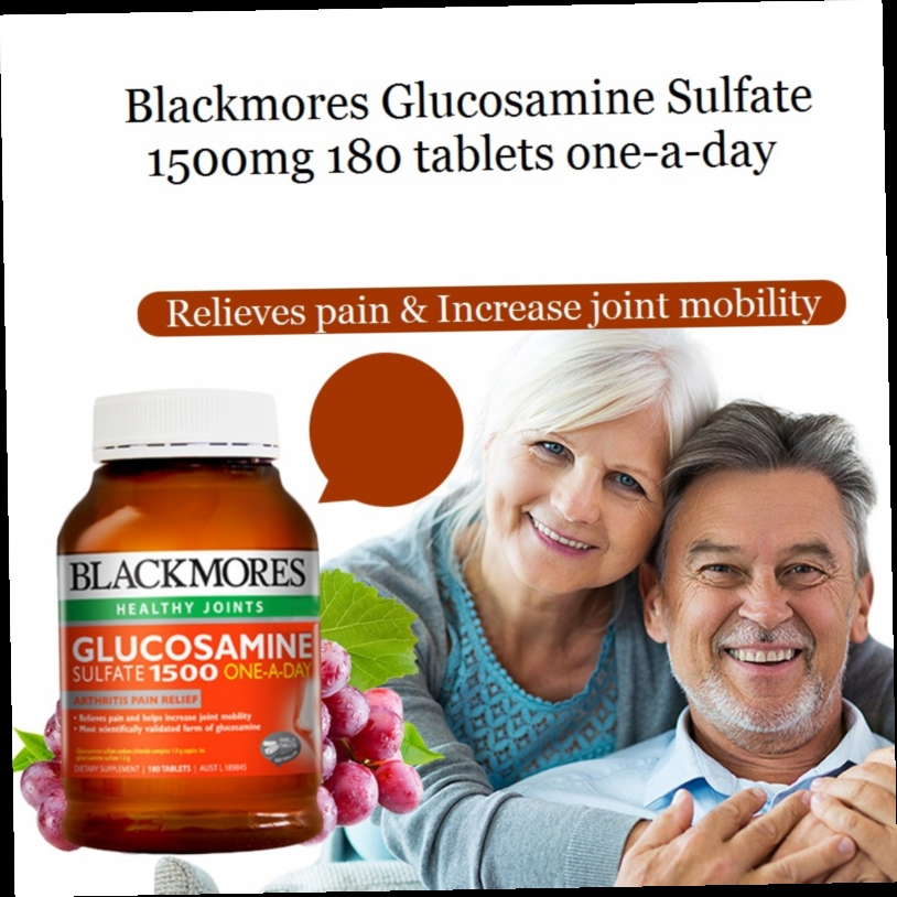 46.47$  Watch here - http://alizqe.worldwells.pw/go.php?t=1935011004 - Australia Blackmores healthy joint Glucosamine Sulfate 1500mg180caps Relieve pain Increase joint mobility joint care Bone health