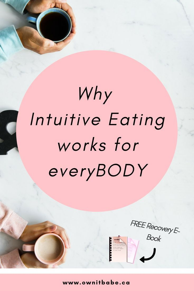 5 Reasons why Intuitive Eating works for EveryBODY is part of Intuitive eating - Intuitive eating is not a diet  It is a way of eating that honours your body's hunger and fullness signals, while bringing pleasure and enjoyment into your meals  There are no rules to intuitive eating  You basically eat foods that feel good in your body and that feel right in the moment