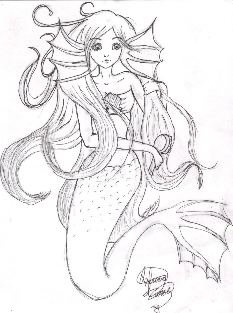 Anime Mermaid Coloring Page Youngandtae Com Mermaid Coloring Pages Anime Mermaid Mermaid Coloring