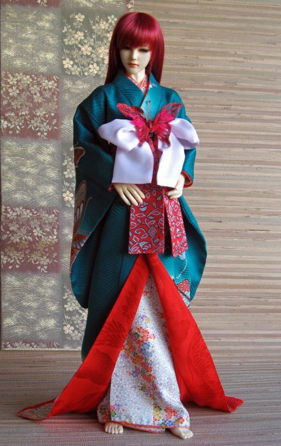 "Real Things for BJD: BJD kimono - ""Madame Butterfly"" Geisha Furisode"