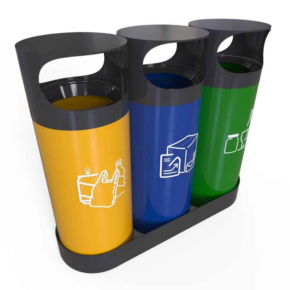 Orebro City Poubelle De Tri Selectif D Exterieur Recycling Bins
