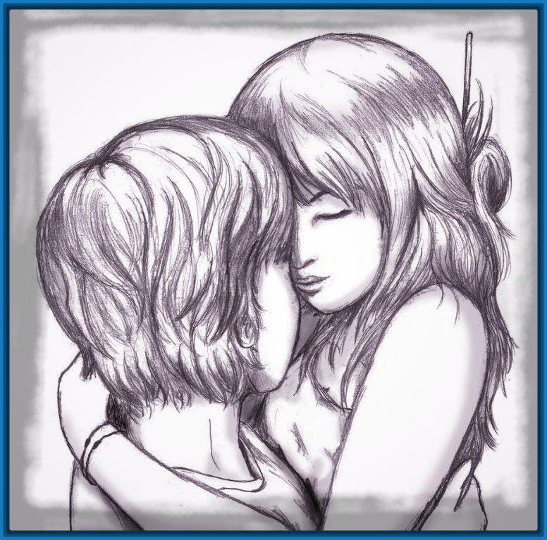 Emos Para Dibujar A Lapiz Imagui Cute Drawings Of Love Love Drawings Sketches Of Love