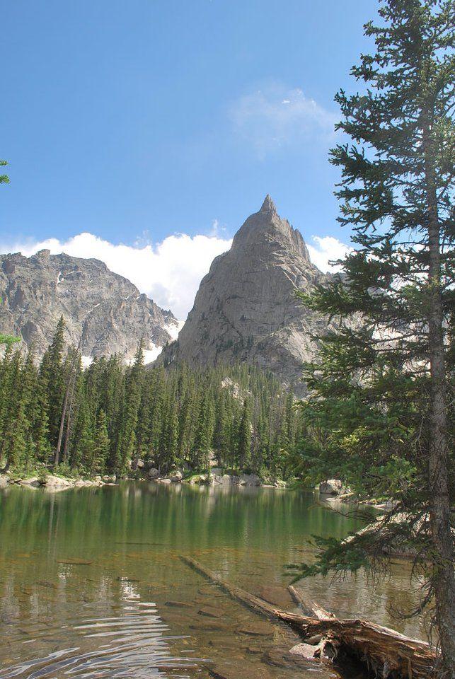 Mirror Lake with Lone Eagle Peak behind it