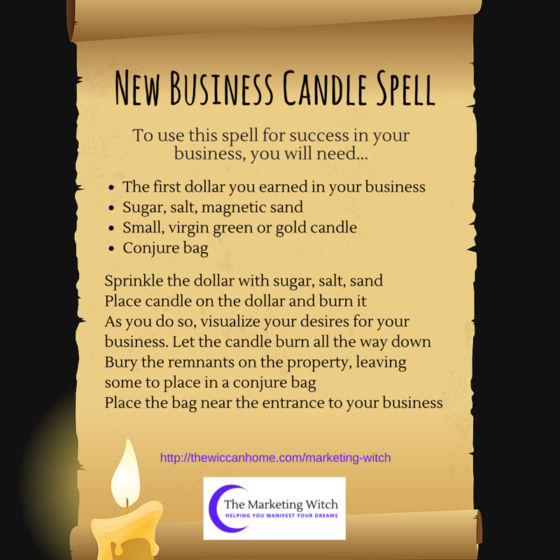 New Business Candle Spell Candle Spells Spelling Business