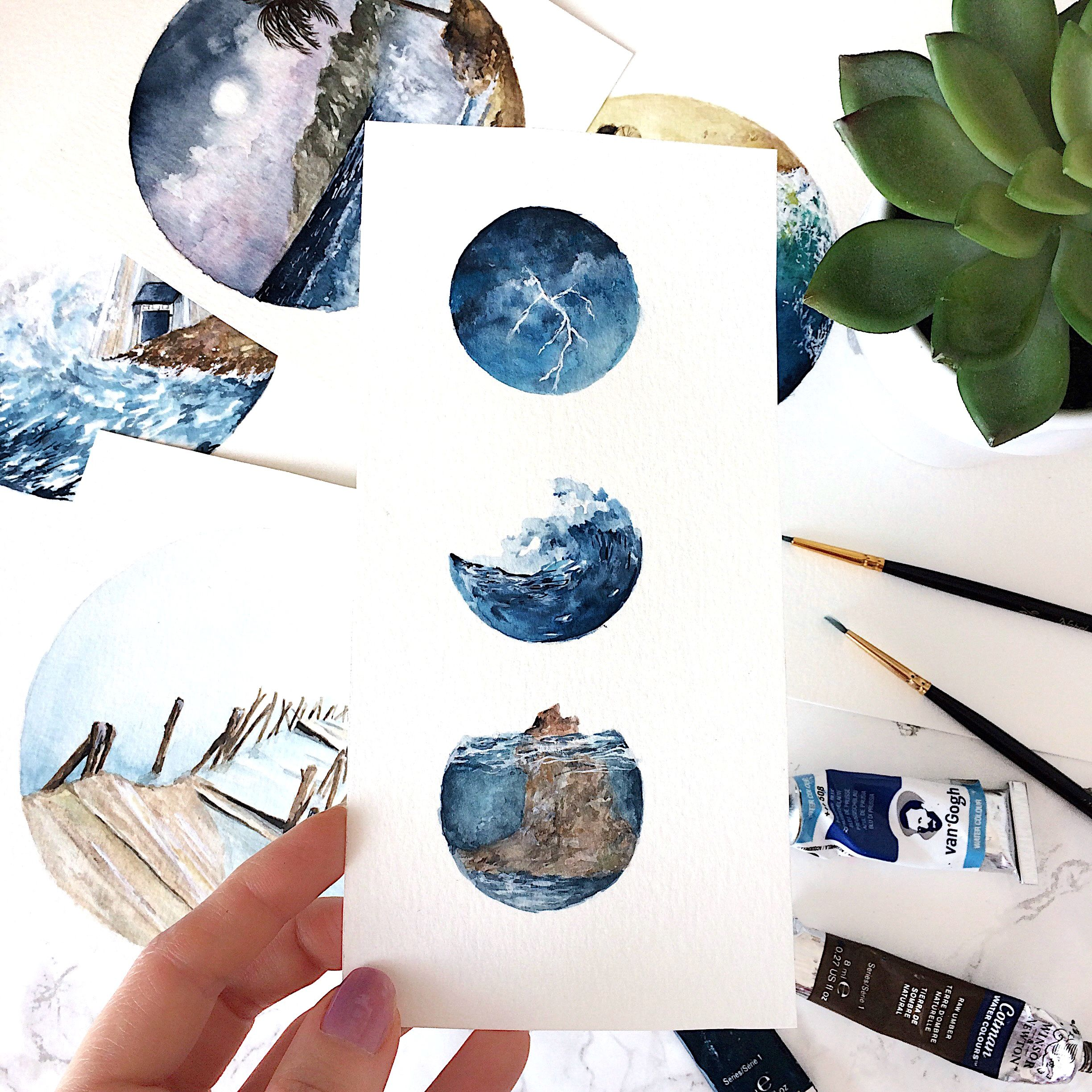 038971a079297 Mini water inspired doodles #watercolor #doodles #doodling #art ...