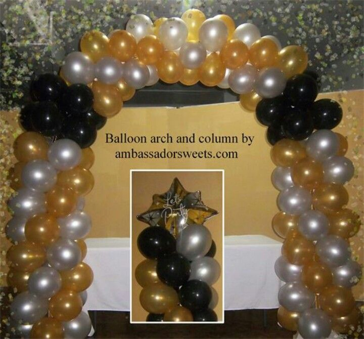 New year balloon arch New year balloon