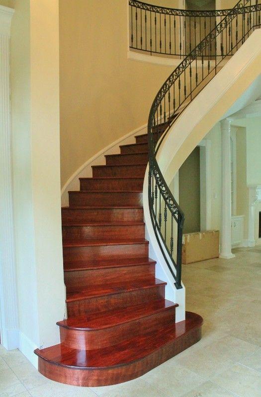 Best This Is One Beautiful Mahogany Hardwood Stairs Inspiring 640 x 480