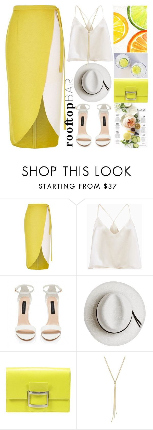 """""""Summer Date:Rooftop Bar"""" by grozdana-v ❤ liked on Polyvore featuring River Island, Forever New, Calypso Private Label, Roger Vivier, summerdate and rooftopbar"""