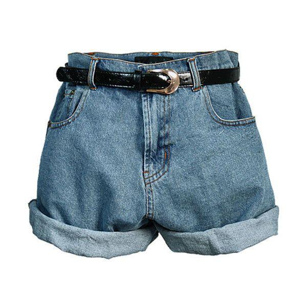 7570fd057c Retro Oversized High Waist Denim Shorts with Waistband | Summer 2014 ...