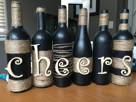 Wine Bottle Decor Wine Bottle Decor Wine Bottle Decorationchiclyshabbydesigns