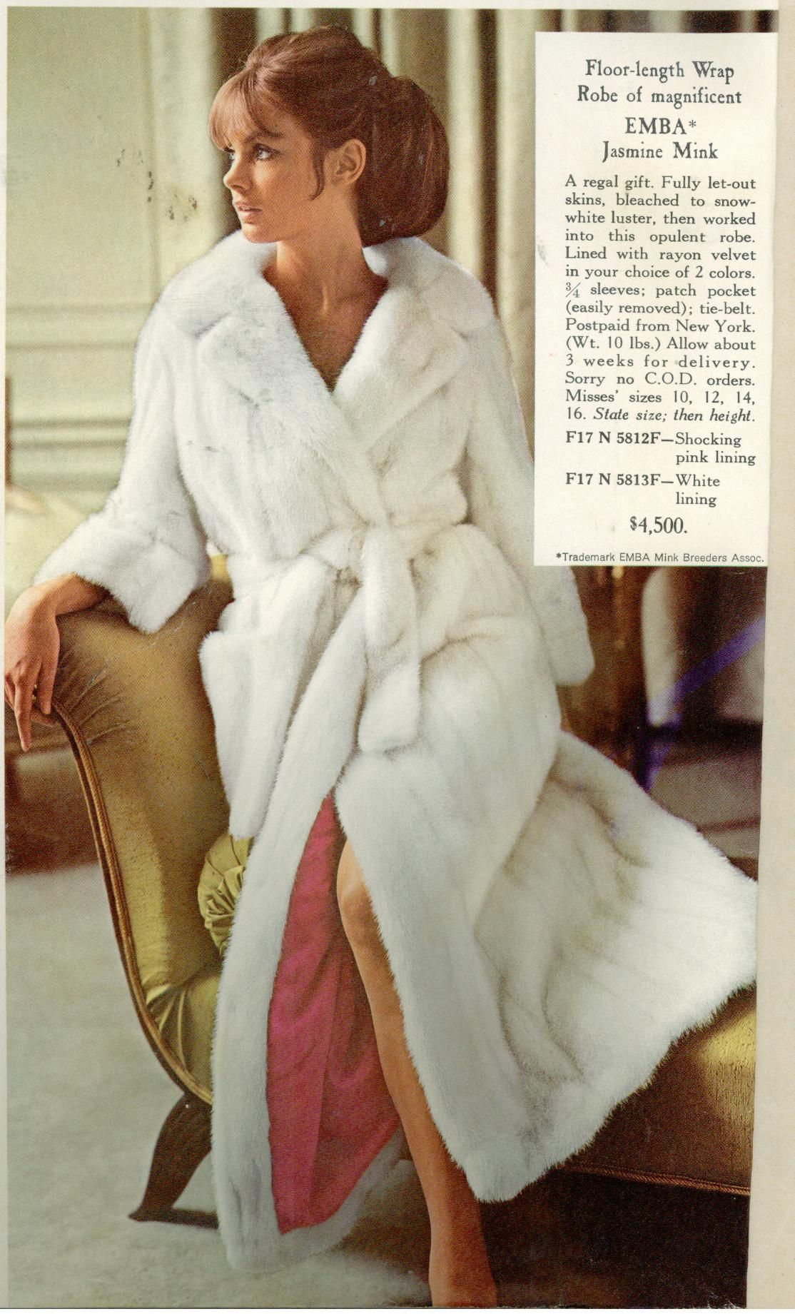 white mink fur bathrobe  c8d3b410a